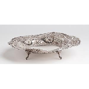 Elegante Cestino tondo in argento 925‰ - ...