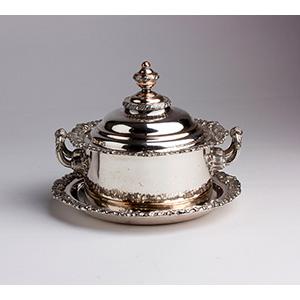 Georgian Old Sheffield Plate Sugar bowl with ...