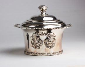 Old Sheffield Plate Biscuit box  - ...