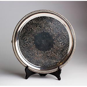 Georgian Old Sheffield Plate Round Salver - ...