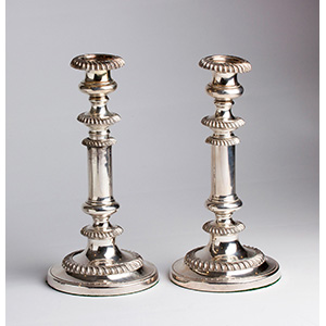 Victorian pair of  Old Sheffield Plate ...