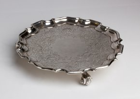 Salver Georgiano in Old Sheffield Plate - ...