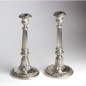 Antique pair of solid 833% silver - ...