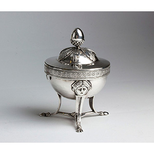 Antique solid silver Covered Sugar Bowl - ...