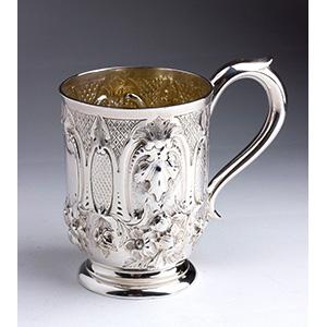 Sterling Silver 925% Victorian Mug - ...