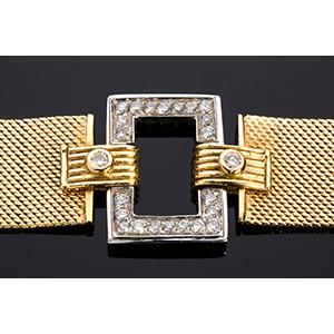 18K Yellow & White gold Diamond ...