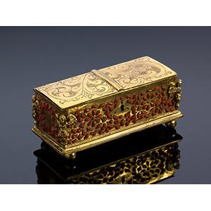 A coral and copper treasure chest, Trapani ...
