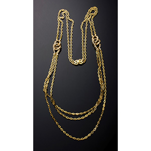 18K Gold and diamonds necklace; ; ...