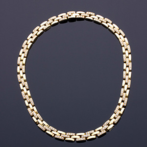 CARTIER - 18K GOLD DIAMOND NECKLACE; ; from ...