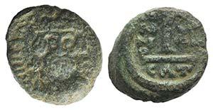 Heraclius (610-641). Æ 10 Nummi (13mm, ...