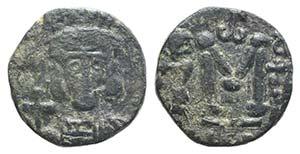 Constantine IV (668-685). Æ 40 Nummi (14mm, ...