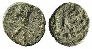 Visigoths in Spain, c. 6th century. Æ ...