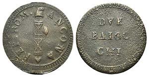 Italy, Ancona. Repubblica Romana, 1798-1799. ...