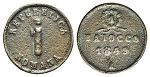 Italy, Ancona. Seconda Repubblica Romana, ...