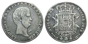 Italy, Firenze. Leopoldo II di Lorena ...