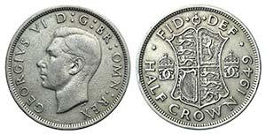 Britain, George VI (). AR Half Crown 1949 ...