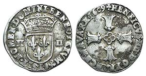 France, Henry IV (1594-1610). AR Quart dEcu ...