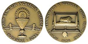 Hungary. Æ Medal 1938 (55mm). XXXIV ...