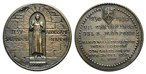 Italy, Todi. Æ Medal 1930 (51mm). JESV ...