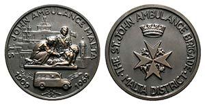 Malta, Æ Medal 1969 (72mm). Order of St. ...