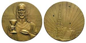 Religious Æ Medal 1912 (50mm, 46.31g, 12h). ...