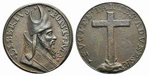 Papal, San Liberio (352-366). Æ ...