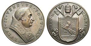 Papal, Paolo II (1464-1471). Æ ...