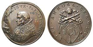 Papal, Giulio II (1503-1513). Æ Medal ...
