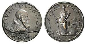 Papal, Giulio III (1550-1555). Æ Medal ...