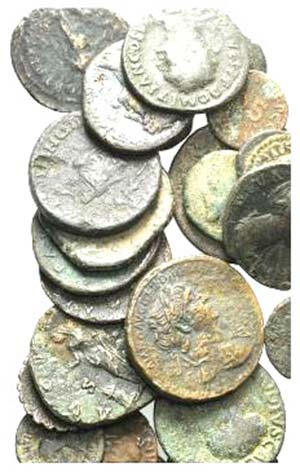 Lot of 27 mixed Æ coins, including 3 Greek, ...