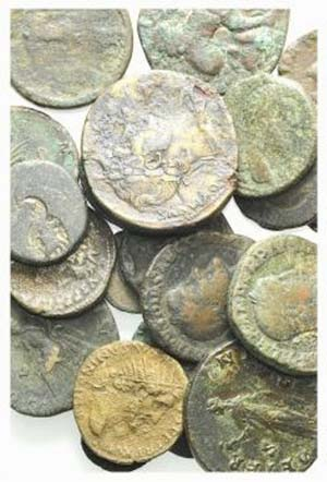 Lot of 24 mixed Æ and BI coins, including 5 ...