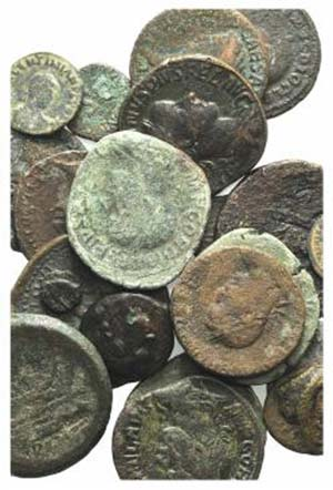 Lot of 23 mixed Æ coins, including 4 Greek ...