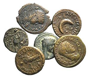 Lot of 6 Roman Provincial Æ coins, to be ...