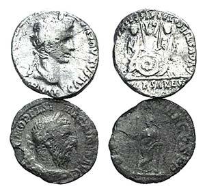 Lot of 2 Roman Imperial AR Denarii, ...
