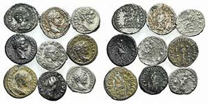 Lot of 9 Roman Imperial AR Denarii, ...