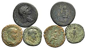 Lot of 3 Roman Æ Sestertii, including ...