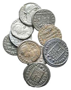 Lot of 10 Late Roman Æ coins, to be ...