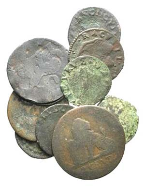 Lot of 12 Æ Medieval and Modern coins, to ...