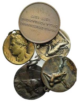 Lot of 5 Italian Æ Medals, to be catalog. ...