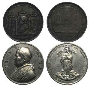 Papal, Pio IX (1846-1878). Lot of 2 Struck ...