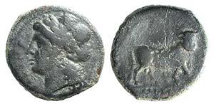 Campania, Cales, c. 265-240 BC. Æ (21mm, ...