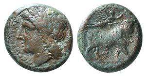 Campania, Neapolis, c. 270-250 BC. Æ (19mm, ...