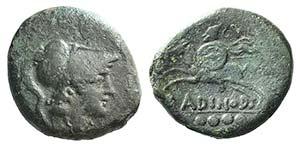 Eastern Italy, Larinum, c. 210-175 BC. Æ ...