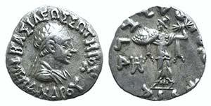 Baktria, Indo-Greek Kingdom. Menander I (c. ...