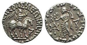 Indo-Skythians, Azes (c. 58-12 BC). AR ...