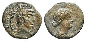 Mark Antony and Cleopatra (32-31 BC). Syria, ...