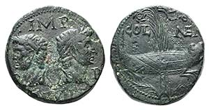 Augustus with Agrippa (27 BC-AD 14). Gaul, ...