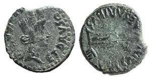 Tiberius (14-37). Spain, Carteia. Æ (18mm, ...