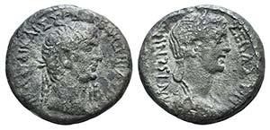 Claudius with Antonia (41-54). Egypt, ...