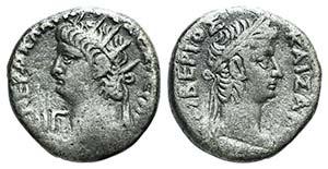 Nero with Tiberius (54-68). Egypt, ...